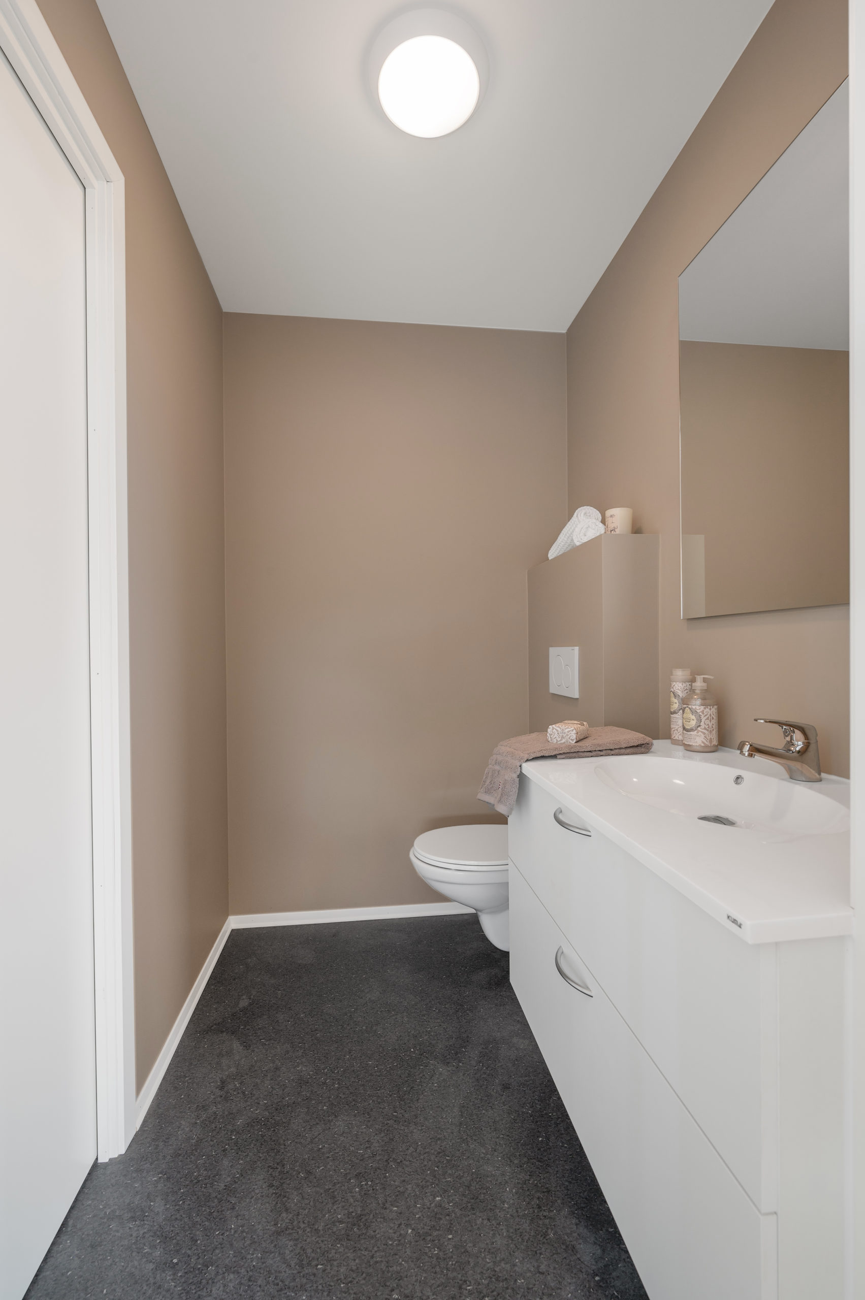 Enebolig Fjellfoten Hage: Bildet viser bad/WC i 2. etasje