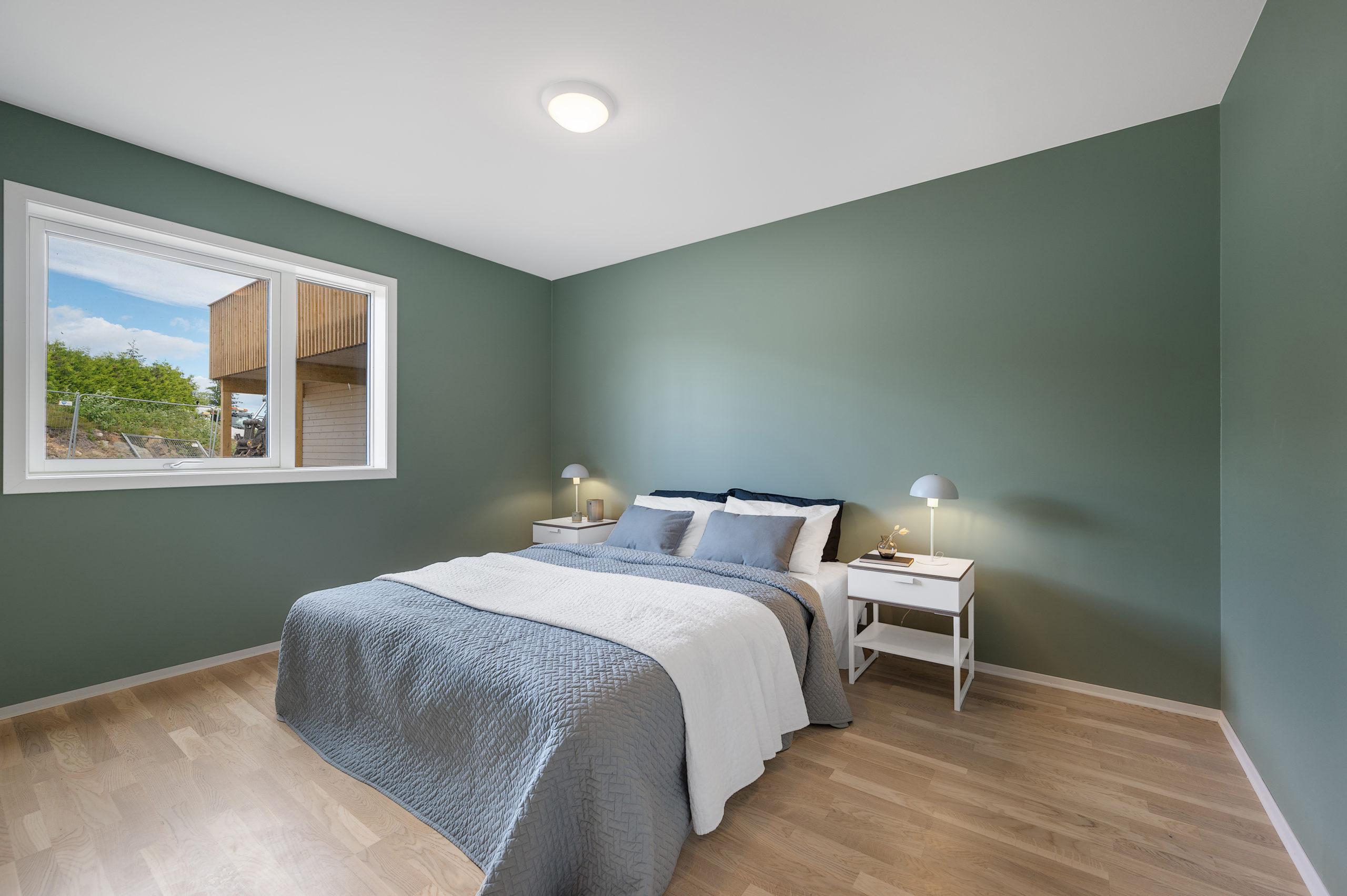 Enebolig Fjellfoten Hage: Soverom med god plass og vakre vegger