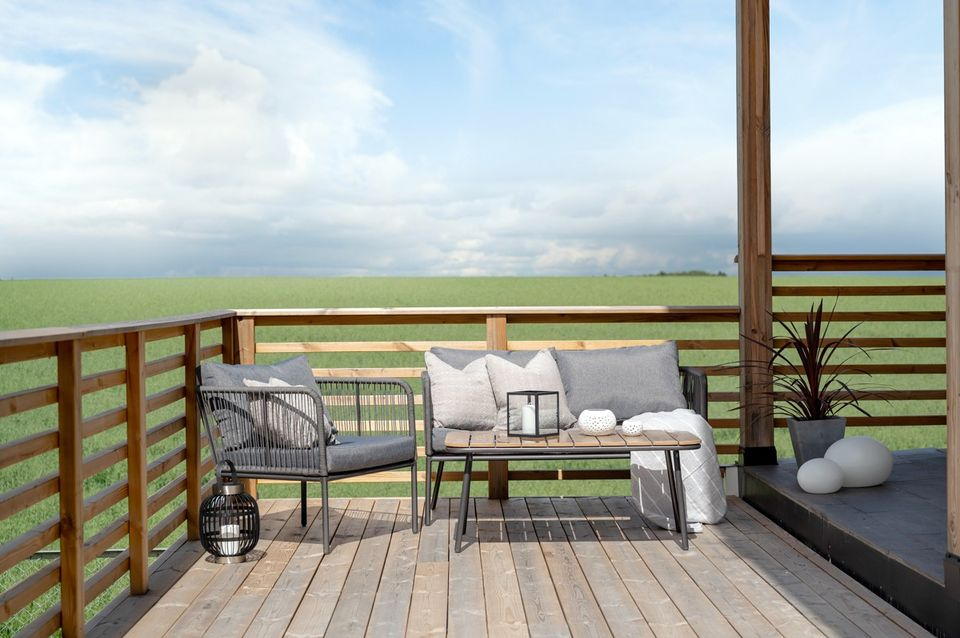 Fri utsikt fra veranda i Grevlingvegen